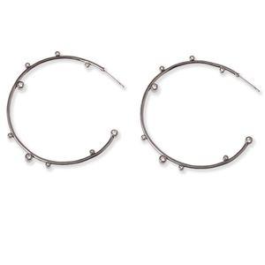Lety Hoop Earrings In Hematite